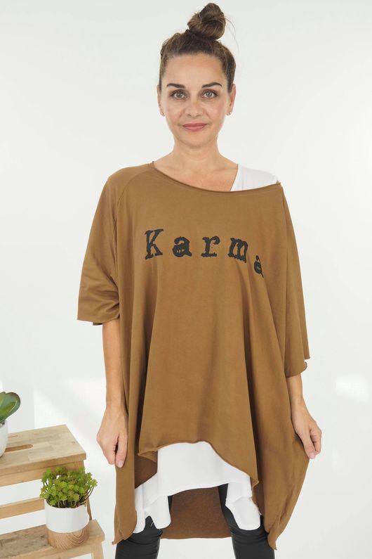 HOK Karma Slouch Top Tan