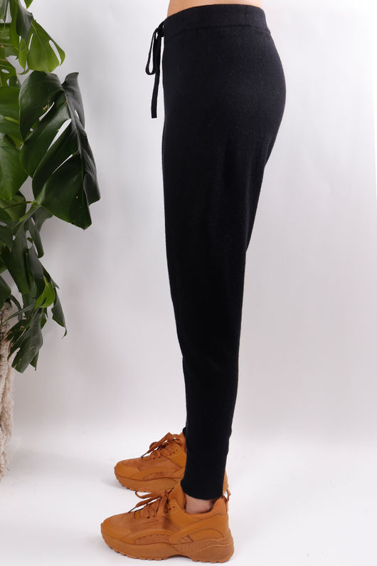 Knit Joggers Black