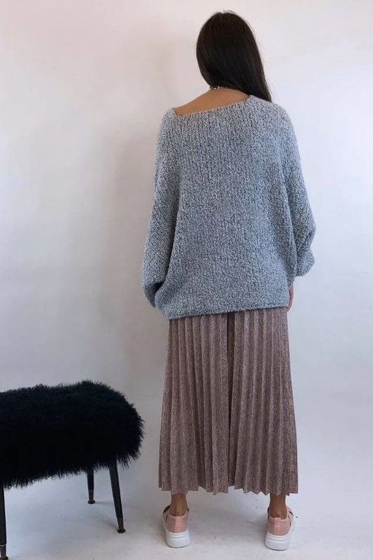 Knitted Culottes Mid Dirty Rose