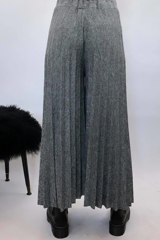 Knitted Culottes Grey Marl
