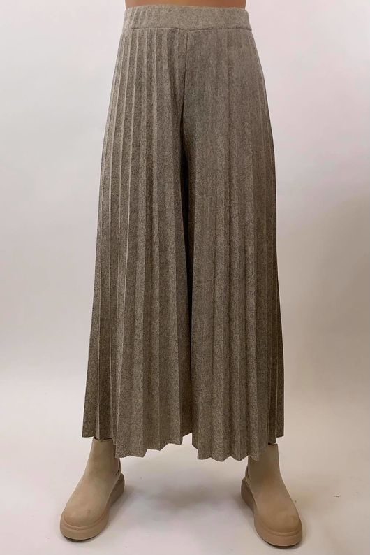 Knitted Culottes Mid Oatmeal