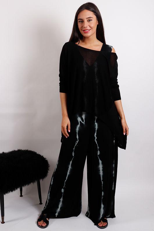 Lightening Pocketed Jumpsuit Black