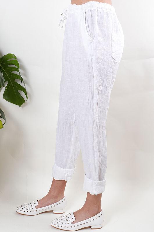 Linen Pant White