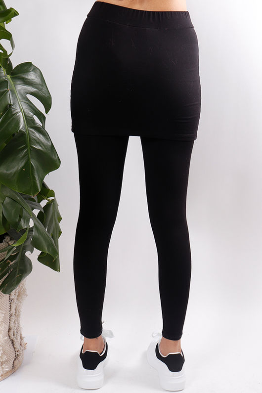 Luxury Skirt Leggings Black