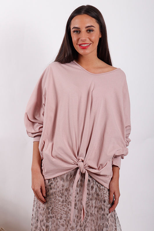 Made In Italy Knot Top Blush