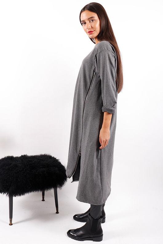 Made In Italy Mercer Zippy Dress Grey