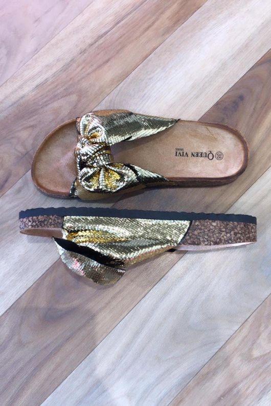Marant Metallic Twist Slider Gold