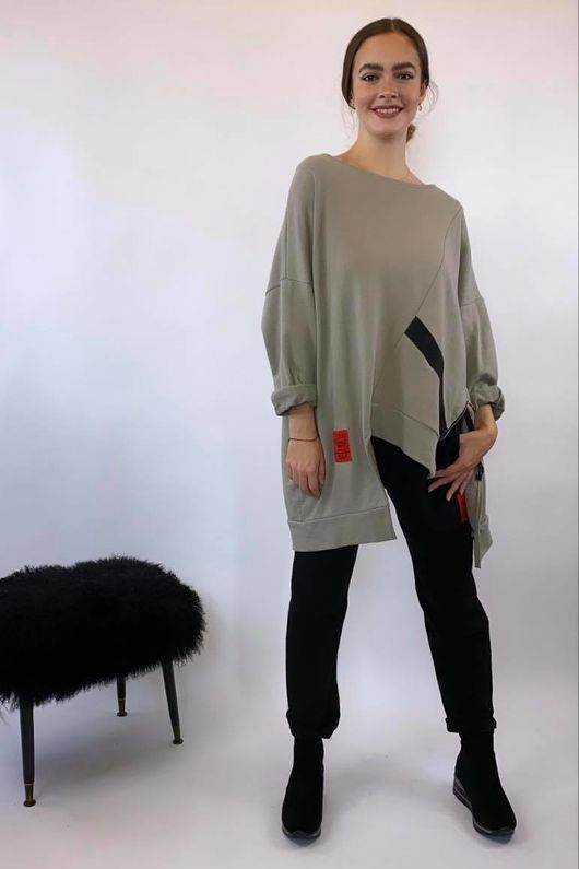 Mercer Abstract Cut Out Sweat Mushroom