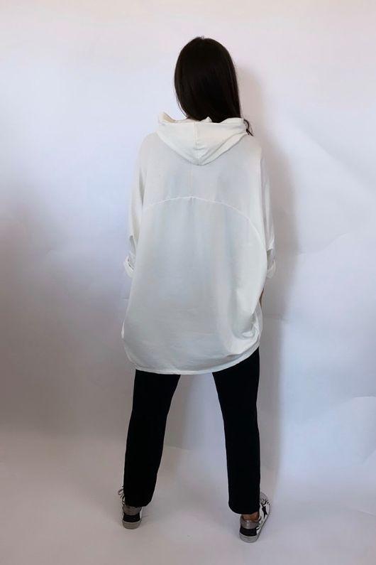 Mercer Classic  Zip Hoody Warm White