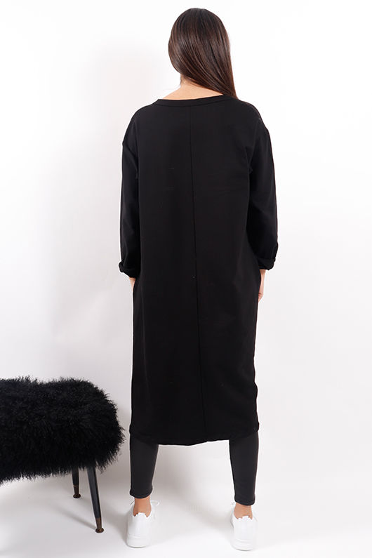 Made In Italy Mercer Eyelet Tunic Black