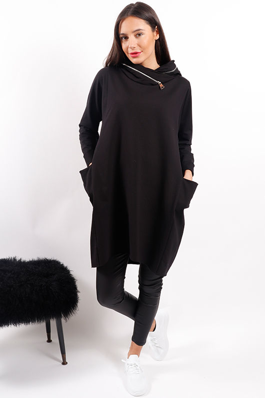 Made In Italy Mercer Zippy Tunic Black