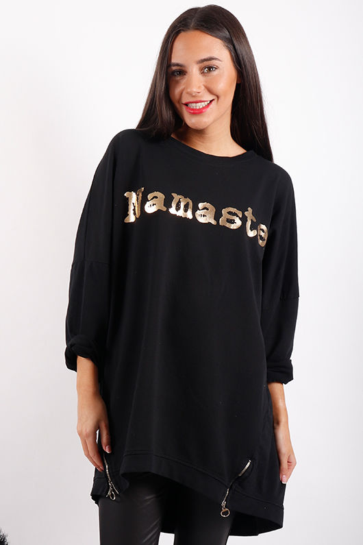 Laundry B Namaste Super Slouch Sweat Black