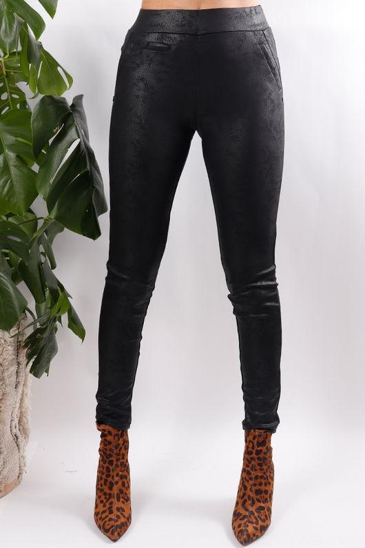 Nubuck Pants Black