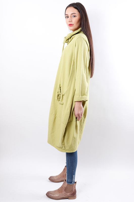 Oversized Cowl Tunic Lime