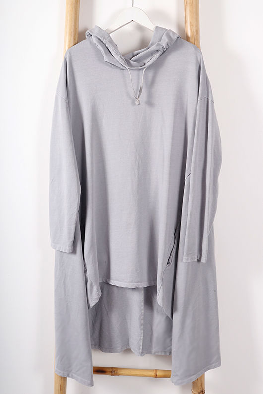 Made In Italy Oversized Trapeze Tunic Dove