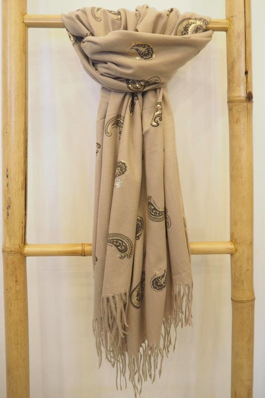 Paisley Park Soft Touch Scarf Stone