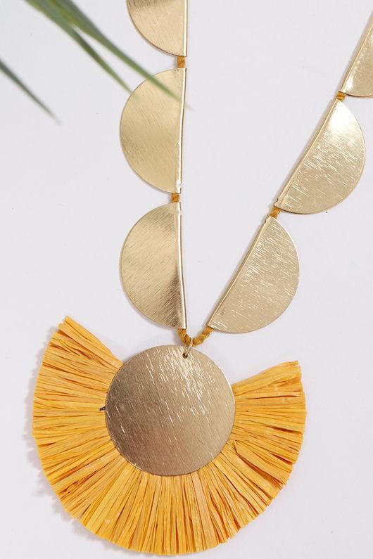 Palme Africa Necklace Mustard
