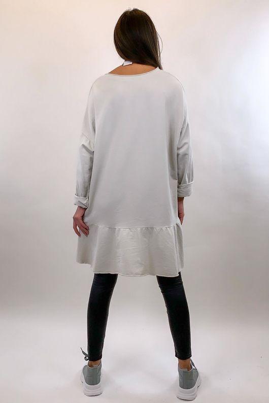Peplum Tunic Dress Stone