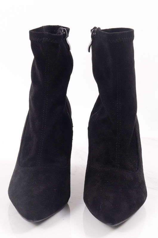 Pointed Sock Boot Black