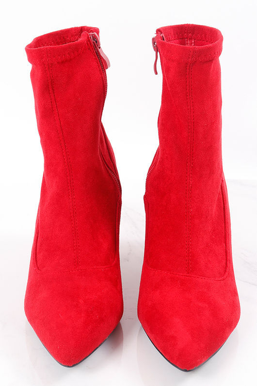 Pointed Sock Boot Red