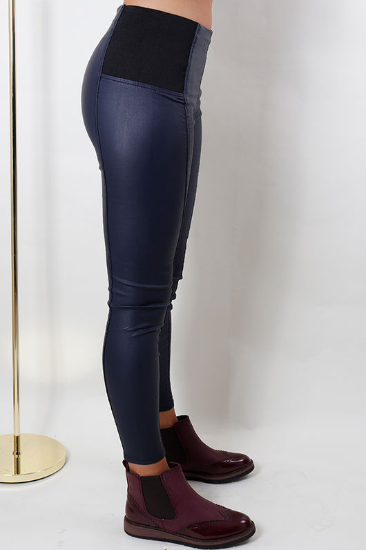 Pull On Wax Pant Navy