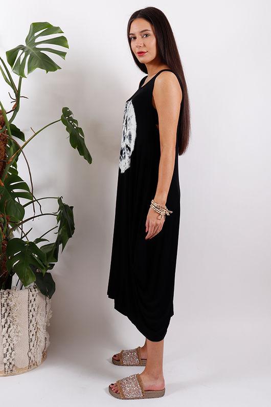 Sahara Fossil Parachute Dress Black
