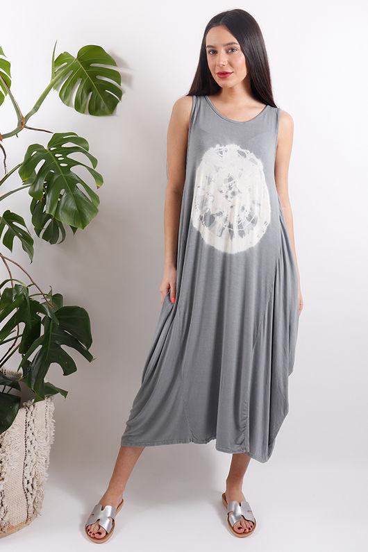 Sahara Fossil Parachute Dress Grey