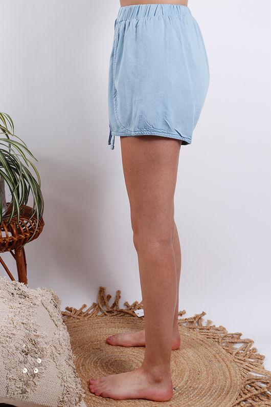 Santorini Shorts Light Chambray
