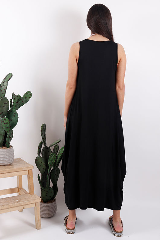 Savannah Basic Base Dress Black