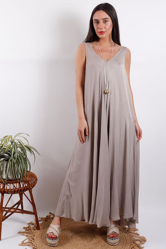 Savannah Maxi Dress Stone