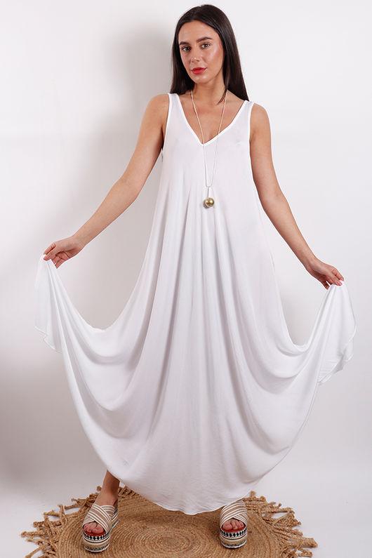 Savannah Maxi Dress White