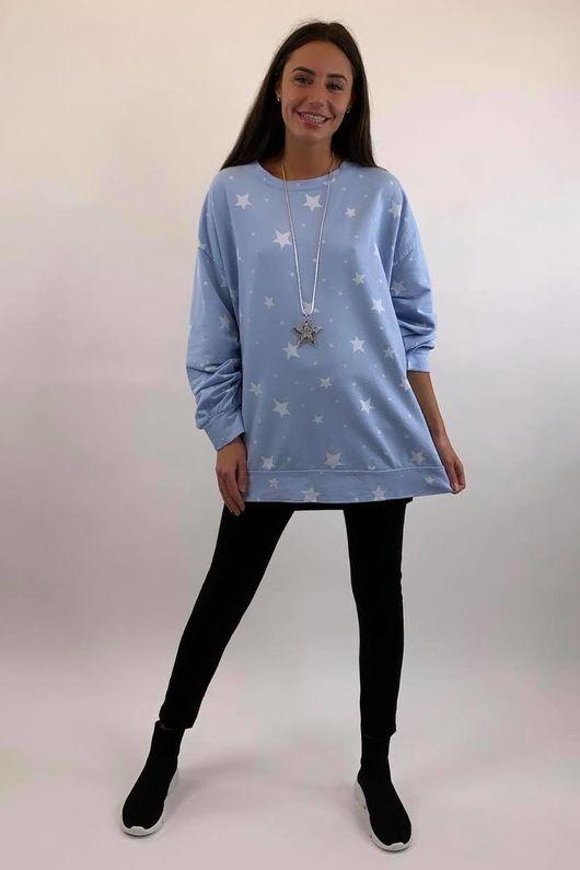 Scatter Star Sweatshirt Ice