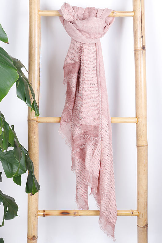 Sequin Scarf Blush
