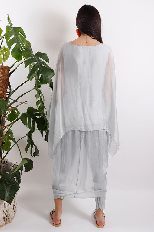 Silk Road Layered Top Dove