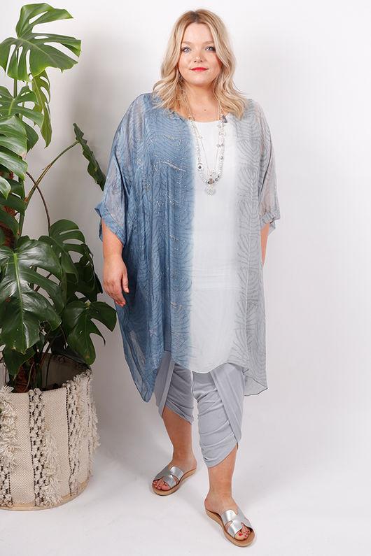 Silk Road Ombre Dress Blue