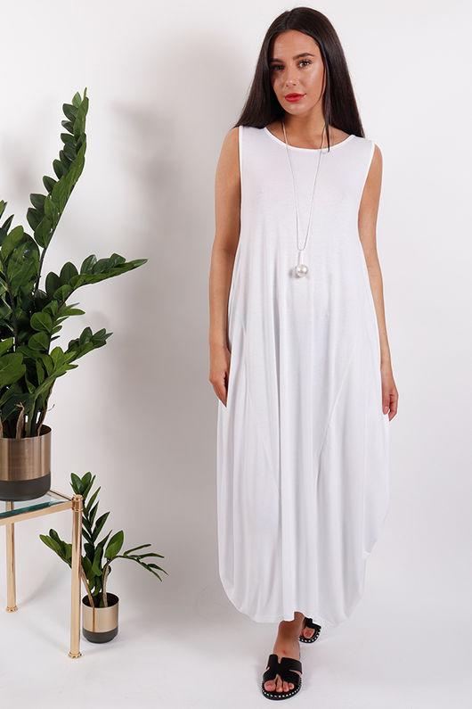 St Kitts Basic Base Dress White
