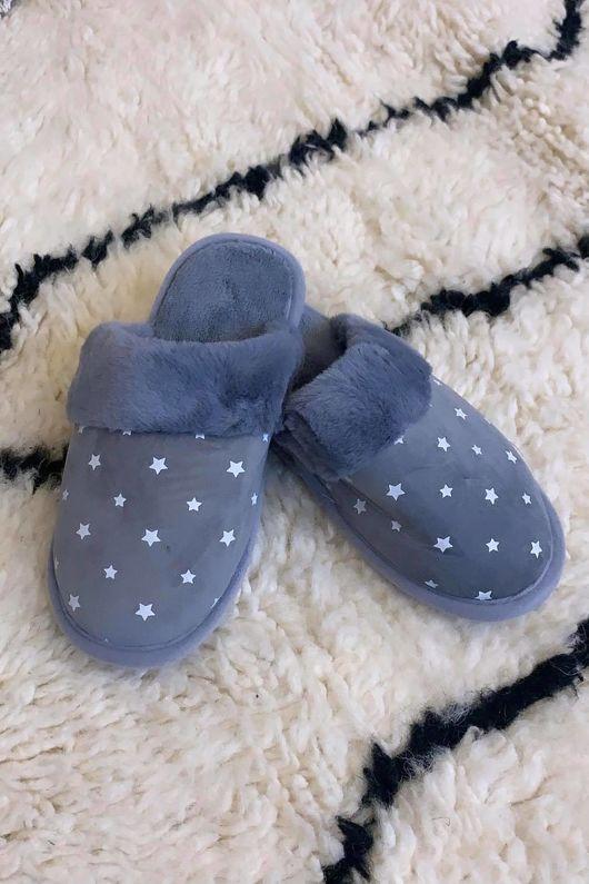 Starry Night Slippers Dove