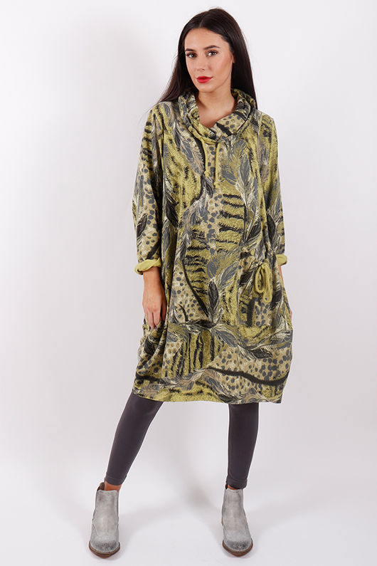Stockholm Feather Tunic Lime