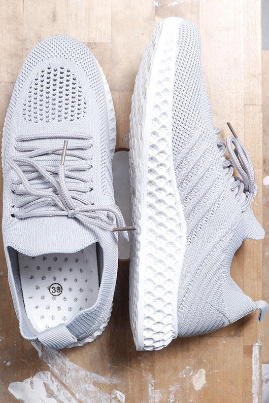 Super Knit Trainers Grey