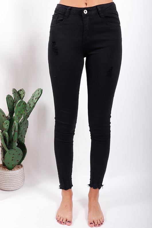 Super Shred Skinny Jeans Black