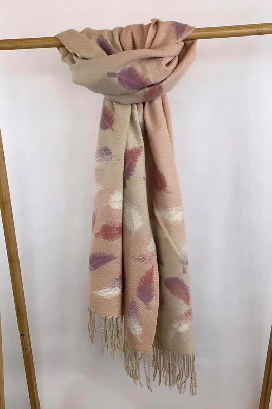 Super Soft Feather Scarf Blush