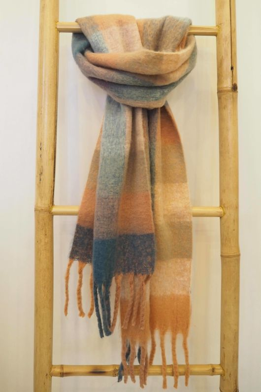 Super Soft Scotch Shrimp Teal Scarf
