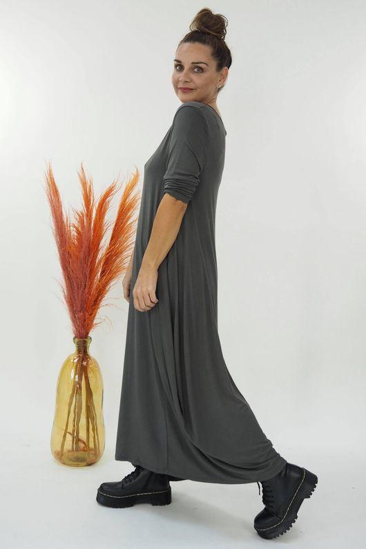 The 3/4 Sleeve Parachute Dress Graphite
