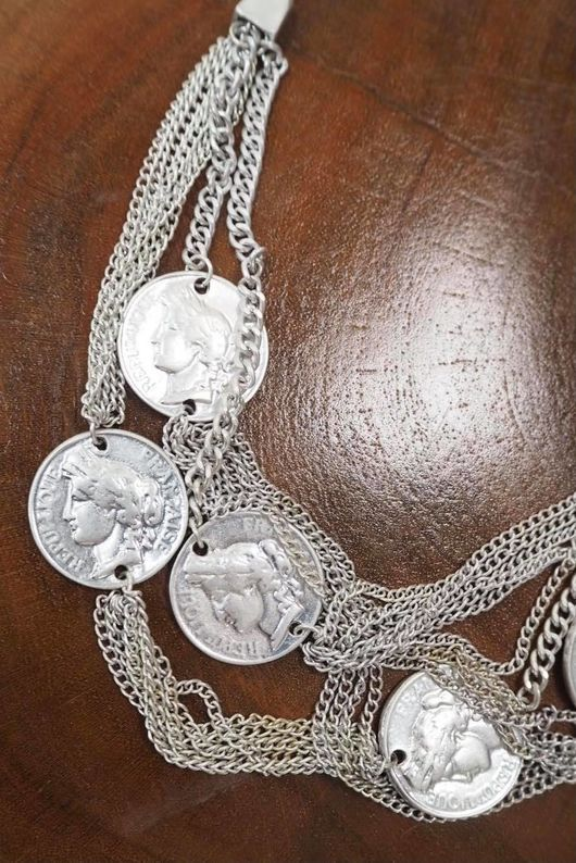 The Augustus Layered Shortie Necklace Silver