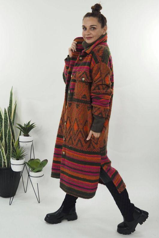 The Aztec Stripe Coat Fire & Khaki