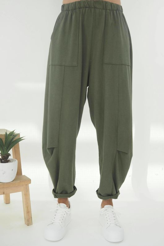The Baby Cocoon Relaxed Sweat Pant Khaki