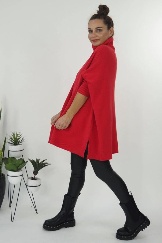 The Classic Blanket Knit Cherry Red