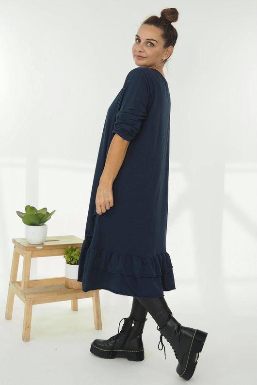The Immy Ruffle Dress Navy
