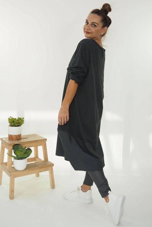 The Mercer Panel Cocoon Dress Graphite