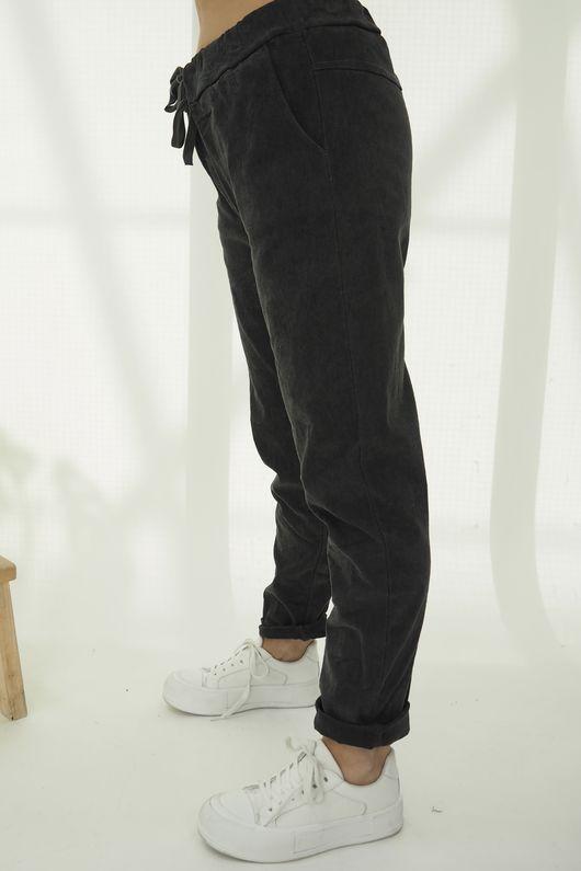 The Micro Cord Magic Pant Graphite